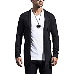 Maniac Mens Fullsleeve Black Cotton Shrug