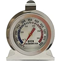 Epoch World Termómetro para Horno Analógico 50-300 Grados ℃ / 100-600 Grados ℉ de Acero Inoxidable Cocina Cocinar