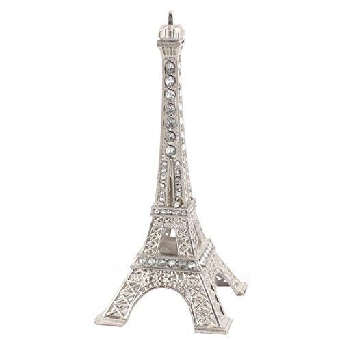 Sourcingmap-® Metal casa miniatura estatua París