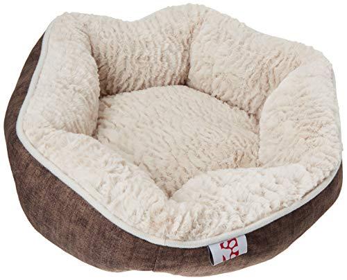 Rosa Und Brown Twin Bettwäsche (Murphy&Roxy Creative Pet Group Hundebett, rund, Plüsch, haarig, Round (18-Inch), Brown/Beige Bed)