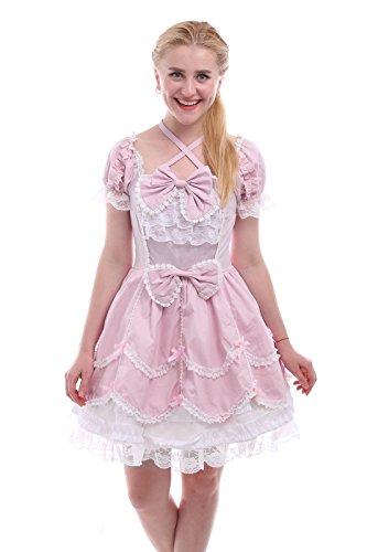 Nuoqi® Damen Kurzarm Lolita Prinzessin Kleid Cosplay Kostüm -