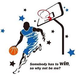 ZNXZZ Jugar Baloncesto Wall Sticker creativo jugador de la NBA Deportes vinilos decorativos para la habitación de los niños Salón De Adesivos Parede