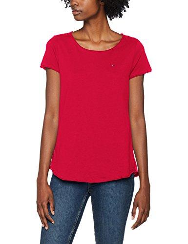 Tommy Jeans Damen T-Shirt Tjw Soft Jersey Tee, Rot (Ski Patrol 690), X-Small
