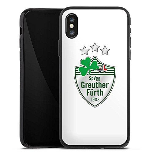 Apple iPhone X Silikon Hülle Case Schutzhülle Greuther Fürth Fanartikel Bundesliga Fußball Silikon Case schwarz