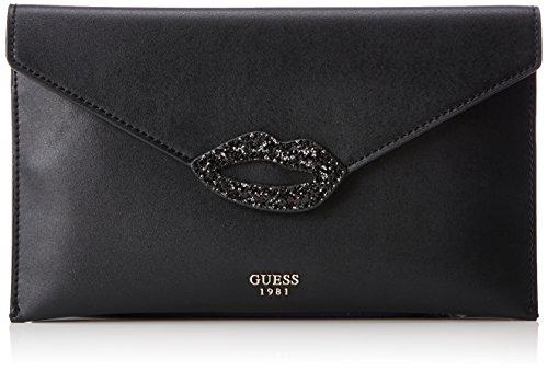Guess Damen Bags Hobo Clutch, Schwarz (Black), 1x18x31 centimeters (Hobo-handtasche Guess)