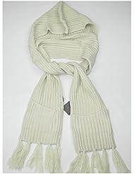 Lovarzi Damen Kapuzenschal mit Taschen - Gestrickter Winter schal für Frauen