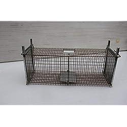 TRAPGALLIER piège de Capture Cage 60x21x23 Contre Petits Animaux Lapins rongeurs Fabrication Française