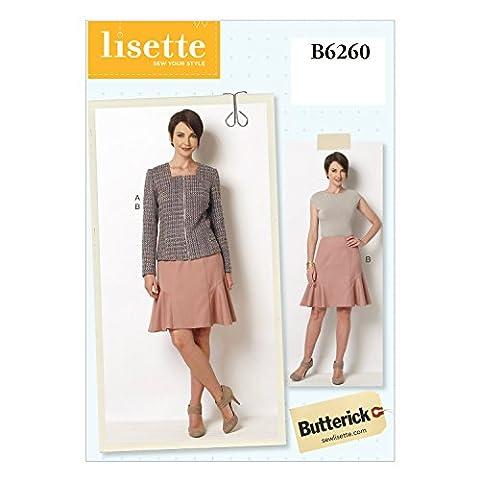 Butterick Patterns B6260E50 Misses Jacket and Skirt, E5 (14-16-18-20-22) by BUTTERICK PATTERNS
