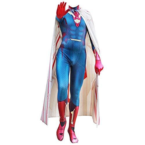 Avengers 2 Vision Kostüm - TENGDA Erwachsene Kinder Spider-Man Vision Cosplay