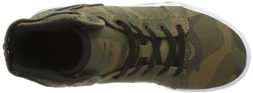 Supra KIDS SKYTOP, Hi-Top Slippers mixte enfant Multicolore - Mehrfarbig (CAMO - WHITE CMW)