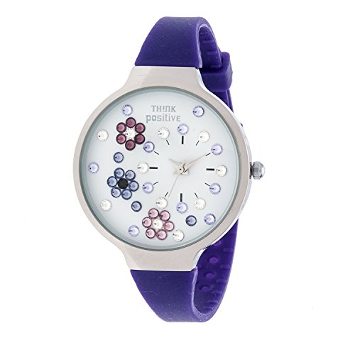 ladies-think-positiver-model-se-w113-flowers-medium-steel-silicone-strap-color-purple