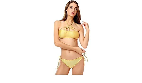 Costumi Da Bagno Bikini Lovers : Pandada monokini push up bikini con decorazione ad anello sexy donne