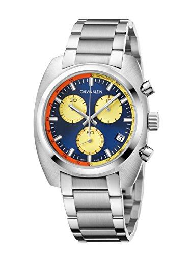 Calvin Klein Reloj Cronógrafo para Hombre de Cuarzo con Correa en Acero Inoxidable K8W3714N