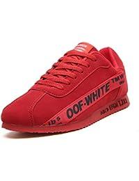 Los Hombres Calzan el Invierno, Zapatos de los Deportes, Zapatos Que trotan al Aire Libre, Zapatos, Viento Wear-Resistant Antideslizante de los Deportes,Red,5.5uk