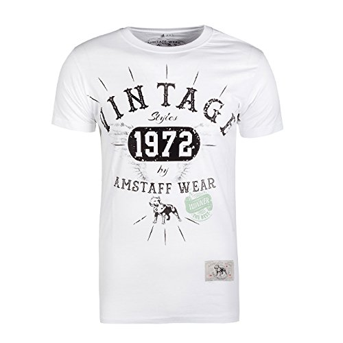 Amstaff Vintage T-Shirt Vintage Weiß