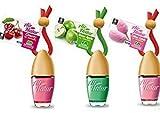 3 Stylisch-modische Air Natur Little Bottle Duftflakons Lufterfrischer Auto- und Raumduft 6ml - 1 x Apple - Apfel, 1 x Cherry - Kirsche, 1 x Cotton Candy - Zuckerwatte