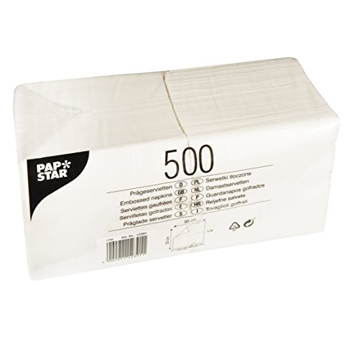 tten, Tissue, weiß, 16 x 35 x 17 cm (Weiße Servietten)