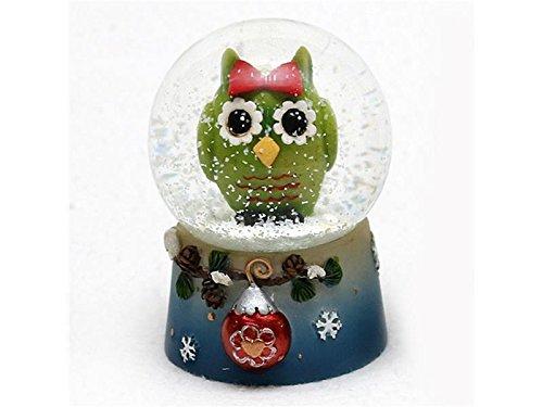 Wunderschöne Schneekugel, Eule, Ø 4,5 cm