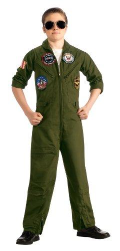 Top Gun Flieger Kinderkostüm mit Brille, (Für Kinder Kostüme Top Gun)
