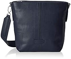Liebeskind Berlin Damen Essential Crossbody Medium Umhängetasche, Blau (Navy Blue) 10x27x23 cm