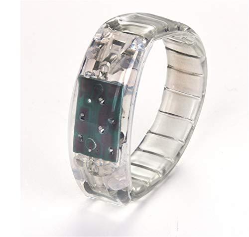 ten Konzert led Leuchtend weiß Hand Ring Flash Armband Armband led Armband leuchtende gürtel Flash kinderspielzeug 2 Packs ()