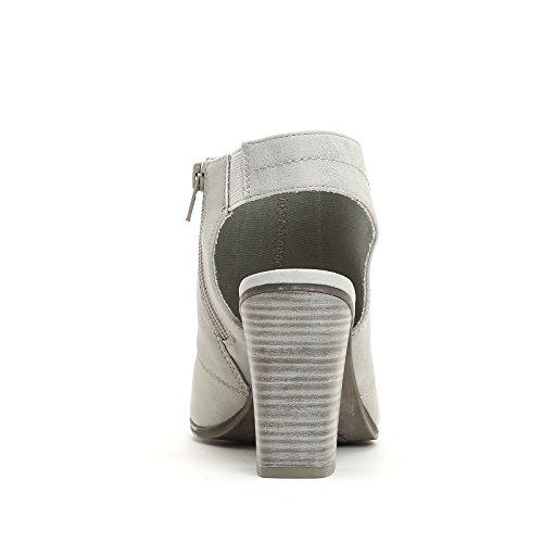 PRENDIMI by Scarpe&Scarpe - Stiefeletten mit Absatz und geöffneter Ferse GRIGIO PERLA