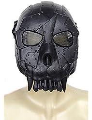 FreshGadgetz EA Wüste Crops DC-01 Voll-Gesicht Schädel-Maske Windschutzscheibe Mask (Schwatz)