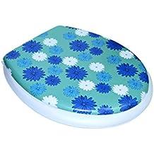 2416 Tapa de medida universal para el asiento del WC con diferentes motivos - Flores azules