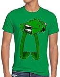 CottonCloud Kermit Camiseta para Hombre T-Shirt Rana títere, Talla:L, Color:Verde
