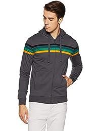 United Colors of Benetton Mens Hooded Slub Sweatshirt