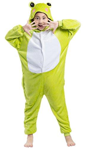 a Tier Flanell Cospaly Kostüme Frosch Geeignet für Hohe 90-146 CM (Kid Frosch Kostüm)