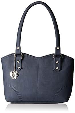 Butterflies Women's Handbag (Blue) (BNS 0377)
