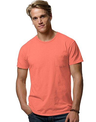 hanes-herren-t-shirt-vintage-orange-l