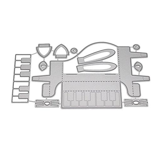 Lifet 3D Klavier Stanzmaschine Stanzschablone DIY Scrapbooking Präge Album Papier Karte Handwerk