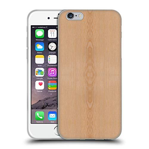 Head Case Designs Offizielle PLdesign Helles Braunes Korn Holz Und Rost Drucke Soft Gel Huelle kompatibel mit iPhone 6 / iPhone 6s (Case Iphone Holz-korn Aus 6)