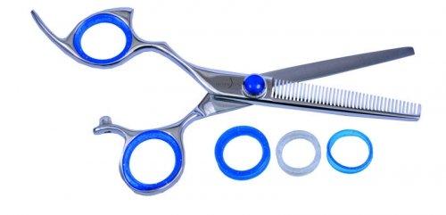 Shark Fin Haar Scheren Professional Line Edelstahl Linkshänder nicht Schwenkbare Texturizer 40T Mixer aus Polyamid
