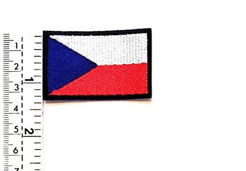 Mini Tschechische Flagge National Emblem Patch Weste/Jacke/Biker Patch Motorrad Rider Biker Tattoo Jacke T-Shirt Aufnäher Aufbügler Aufbügler -