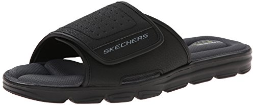 Skechers Sport Wind Swell Slide Sandale, Black, 44 EU