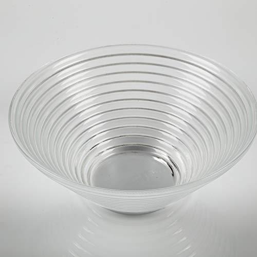 INNA Glas - Coupelle en verre rainurée SELMA, DELUXE, transparent, Ø 19 cm - Coupe à fruits / Coupelle ronde