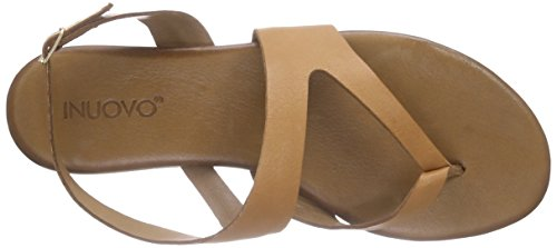 Inuovo 6336, Sandales Bout Ouvert Femme Marron (COCONUT)