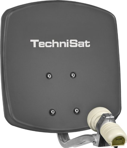 TechniSat Digidish 33 SAT-Offset-Spiegel mit Wandhalterung und Universal-V/H-LNB grau
