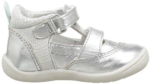 Noël Mini Kiwi, Chaussures Bébé marche bébé fille Argent (82 Argent)