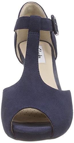 Clarks ClarksKendra Flower - Scarpe con Tacco donna Blu (Navy Suede)