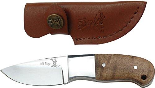 Elk Ridge Couteau d'extérieur Manche en Bois de Hunter Racine, Longueur Totale cm : 12,7, elkr de 1047