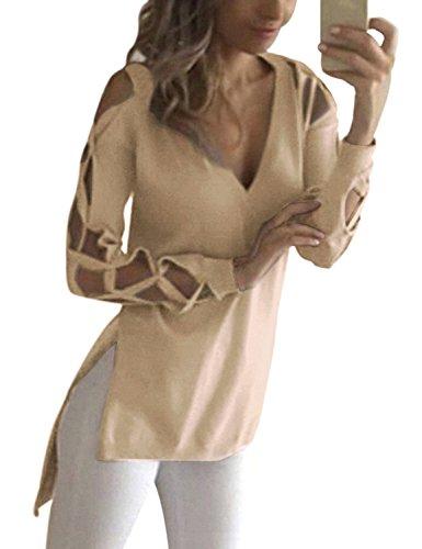 yidarton-women-sexy-hollow-out-long-sleeve-v-neck-tops-blouse-t-shirt-khaki-medium