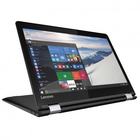 Lenovo Yoga 510-14IKB - Portátil convertible de 14' HD (Intel Core i3 7100U, RAM de 4 GB, SSD de 256 GB, Intel HD Graphics 620, Windows 10 Home) negro - teclado QWERTY Español