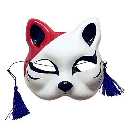 chtsmaske Gesichtsschutz Domino falsche Front Anime männliche und Weibliche Katze Gesicht Cosplay Tanz Q4 ()