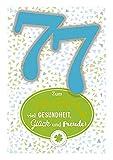 Depesche 5698.098 - Glückwunschkarte mit Musik, 77. Geburtstag