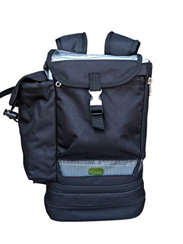 o2totes Rucksack für Philips Respironics SimplyGo Mini Tragbarer Sauerstoff-Konzentrator-Rucksack mit Staufach und verstellbaren Riemen, Schwarz