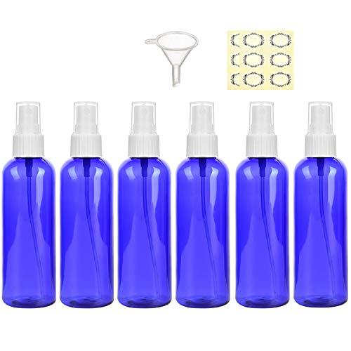 Yalbdopo Set di 6 flaconi spray da 50 ml vuoti nebulizzatori da viaggio ricaricabili per oli essenziali profumi cosmetici